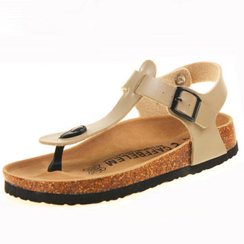 Women Sandals Shoes Cork Sandals Pregnant Women Shoes Beach Sandals for Women Summer Shoes Non-Slip Cool Slides Plus size 35-41