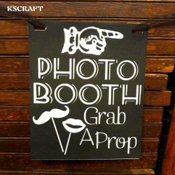 Creative Wooden Wedding Signs Photo Photography Props Reception Decoration