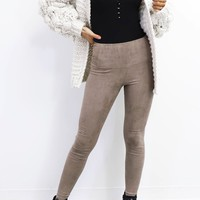 Test Drive Taupe High Waist Leggings