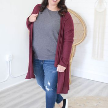 Feelings For Fall Cardigan + Wine