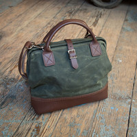 "Wood&Faulk — Northwesterner 12"" Olive and Brown"