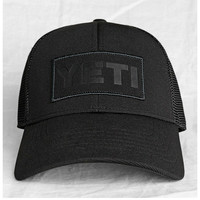 Yeti Coolers Trucker Cap - Black On Black