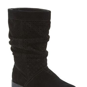 Women's TOMS 'Serra' Perforated Slouch Boot,