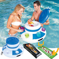 Inflatable Ice Bucket Pool Floats Drink Summer Swimming Party Floating Island