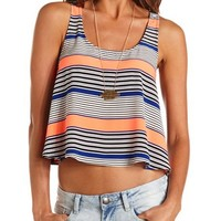 COLORFUL STRIPE CROP TANK