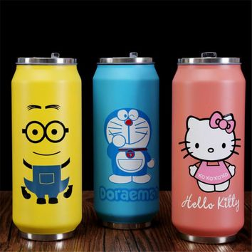 Cartoon Thermos Mug Stainless Steel Vacuum Flasks Thermoses Women Travel Mug Children