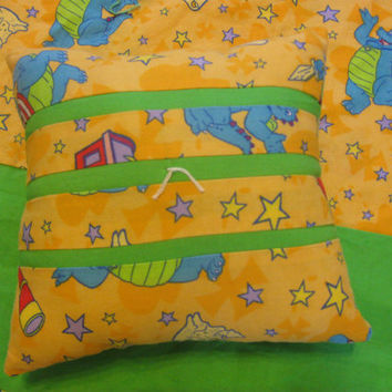 Reversible Dragon Tales Pillow and Cuddleug by KaiceJoy on Etsy