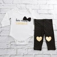 Baby Aspen Trendy Baby Here Comes Trouble 2 Piece Outfit