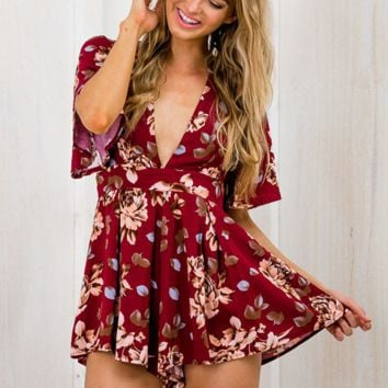 HOT FLOWER ROMPER DRESS