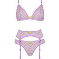 Pettra Lilac and Lime Bra | By Agent Provocateur