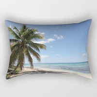 Isla Saona Caribbean Paradise Beach Rectangular Pillow by Christine Aka Stine1 | Society6
