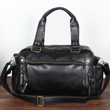 Sports gym bag Men Leather  Handbags Tote Gym Crossbody Men's Travel Shoulder Bags Briefcase Vintage Messenger Bag XA199WA KO_5_1