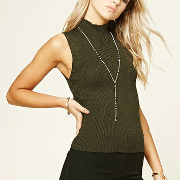 Marled High Neck Sweater Top