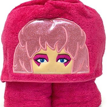 Jem and the Holograms Embroidered Hooded Towel for Kids