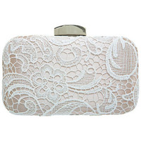 Lace Hard Clutch - Purses & Wallets  - Accessories