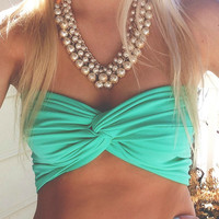 Aquamarine Twist Bandeau