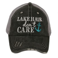 """Lake Hair Don't Care"" Trucker Hat"