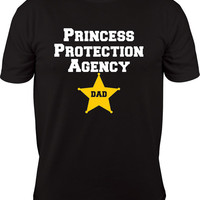 Princess Protection Agency Dad Shirt, new dad gift, daddy, mens shirt, princess party, birthday party, fathers day gift, ppa