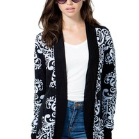 Contrasting Curves Cardigan