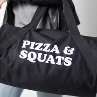 Pizza & Squats Duffel