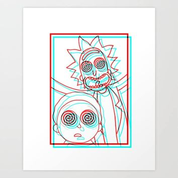 i'M TRiPPY RiCK! Art Print by stephaniemcmahon99