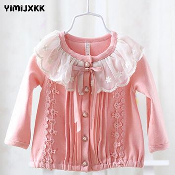 Spring and Autumn Baby Jacket Clothing Hot Sale Children Girl Waist 0-Neck Solid Outerwear Coats Kids Jacket Clothes