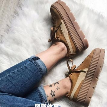 PUMA Fenty Creeper Women Casual Running Sport Shoes Sneakers BROWN G-A-YYMY-XY-1