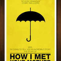 How I Met Your Mother Minimal Art Print - Inspired by the TV Show - 11x17