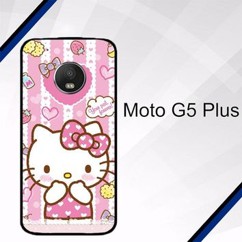 Hello Kitty Candy Pink L1944 Motorola Moto G5 Plus Case