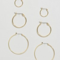 Pieces Hoop Earring Multipack at asos.com