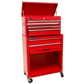 """24"""""""" Homeowners 8 Drawer Combo Tool Box - Red"""