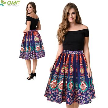 Colorful Peacock Tail Women's Sports Skirt Flared Green Peacock Feather Midi Tennis Skirts Pleated Swing Party Beach Skirts