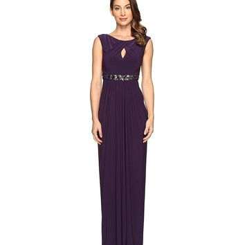 Adrianna Papell - Sleeveless Ruched Long Gown AP1E201175
