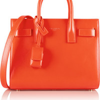 Saint Laurent Sac De Jour Orange Leather Satchel Bag 324823