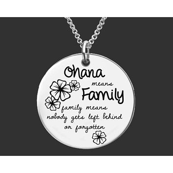 Ohana Means Family Necklace