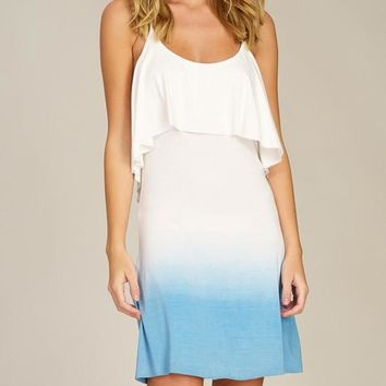 Ombré Knit Dress - Blue