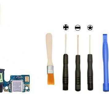 Games&Tech HTC One M8 831c Charger Charging Micro USB Port Flex Cable with Headphone Audio Jack + Tools