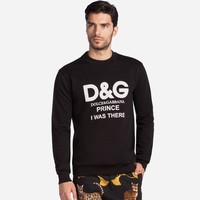 Men's Dolce&Gabbana Print Top Sweater Pullover