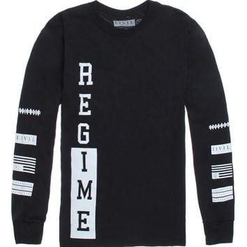 Civil Regime Long Sleeve T-Shirt - Mens Tee - Black