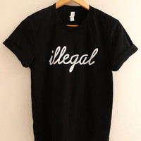 Illegal Black Graphic Unisex Tee