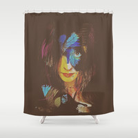 Chrysalis Shower Curtain by Galen Valle