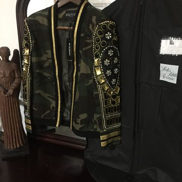 464ce507e7 Balmain Jacket '2XL' (Crystals And Beads Hand Stitched onto Jack