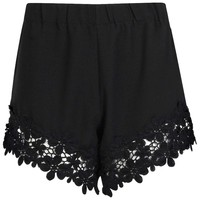 Charla Crochet Trim Shorts