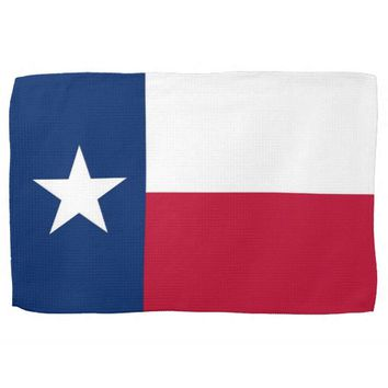 Kitchen towel with Flag of Texas, U.S.A.