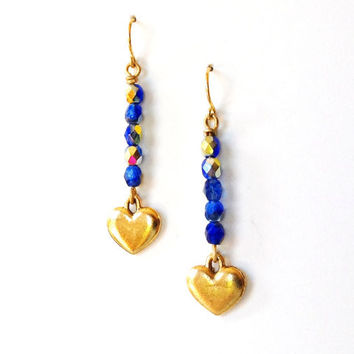 Heart Arrow Earrings Cupids Arrow Dangle Earrings by AtelierYumi