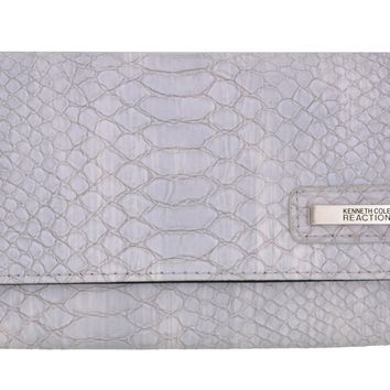 Kenneth Cole Reaction Women's Snake Print Tri-fold Snap Clutch Wallet