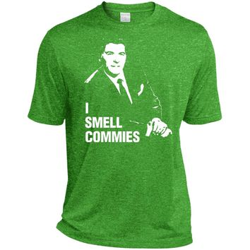 Ronald Reagan I Smell Commies Funny Political T-Shirt-01  TST360 Sport-Tek Tall Heather Dri-Fit Moisture-Wicking T-Shirt