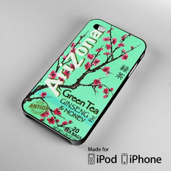 Arizona Green Tea Beverage Drink Retro Teal A1600 iPhone 4S 5S 5C 6 6Plus, iPod 4 5, LG G2 G3, Sony Z2 Case