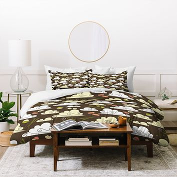 Raven Jumpo Dim Sum At Dawn Duvet Cover