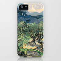 Olive Trees by Vincent van Gogh.  iPhone & iPod Case by NatureMatters